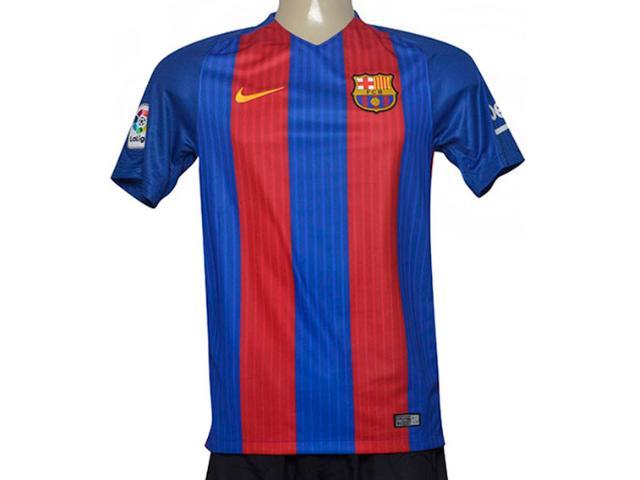Camiseta Masculina Nike 776850-481 Mens fc Barcelona Stadium Top  Azul/vermelho