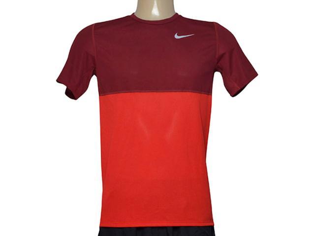 Camiseta Masculina Nike 644396-657 Racer ss Bordo/vermelho