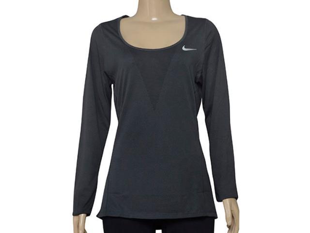 Camiseta Feminina Nike 831514-010 w nk Znl cl Grafite