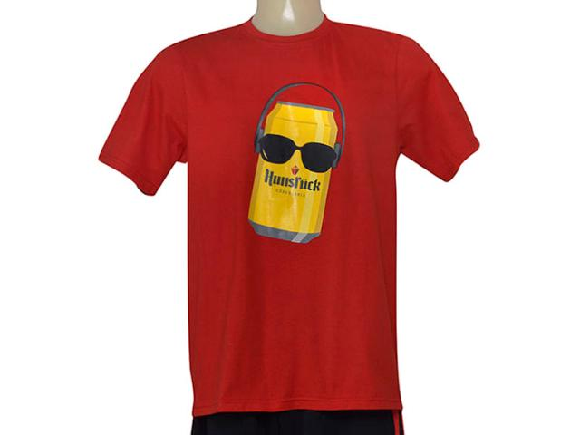 Uni Infantil Panf Camiseta Hunsruck Kids Vermelho