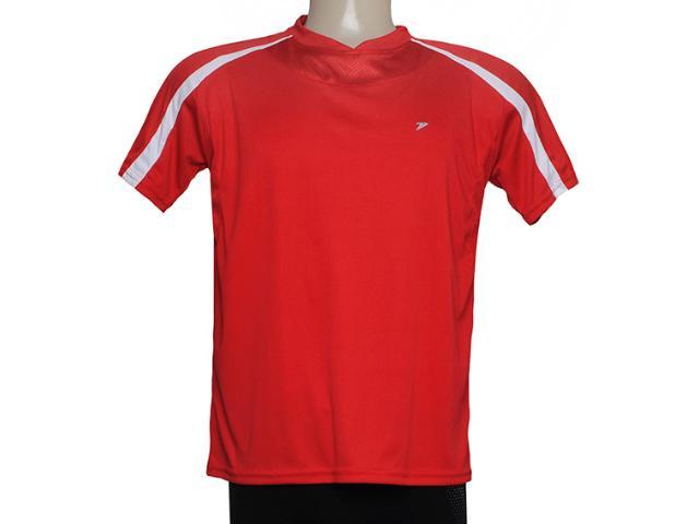 Camiseta Masculina Poker 04671 Vermelho/branco