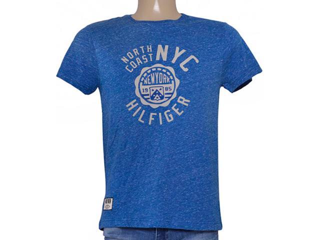 Camiseta Masculina Tommy Th0887882960 Azul