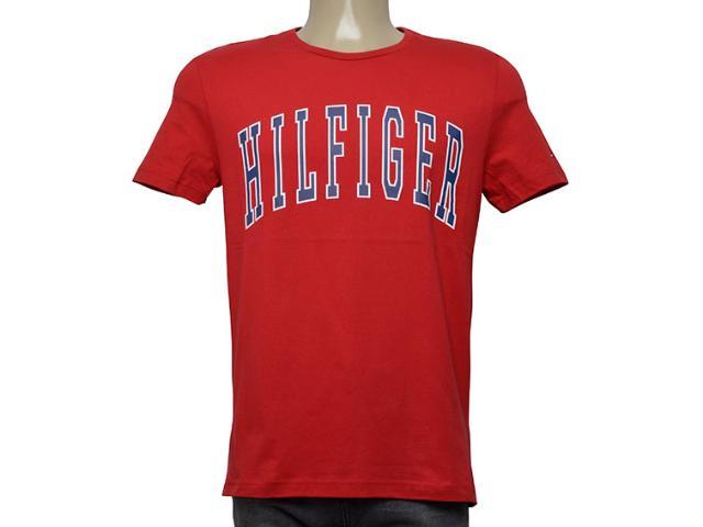 Camiseta Masculina Tommy Thmw0mw08369 611 Vermelho
