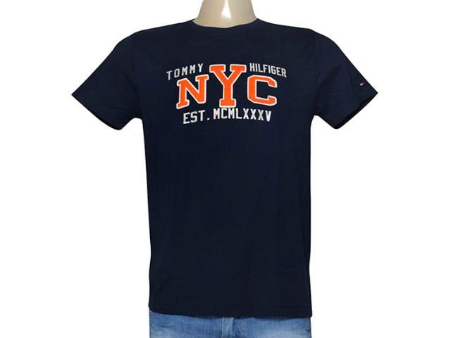 Camiseta Masculina Tommy Th0887878936 Marinho