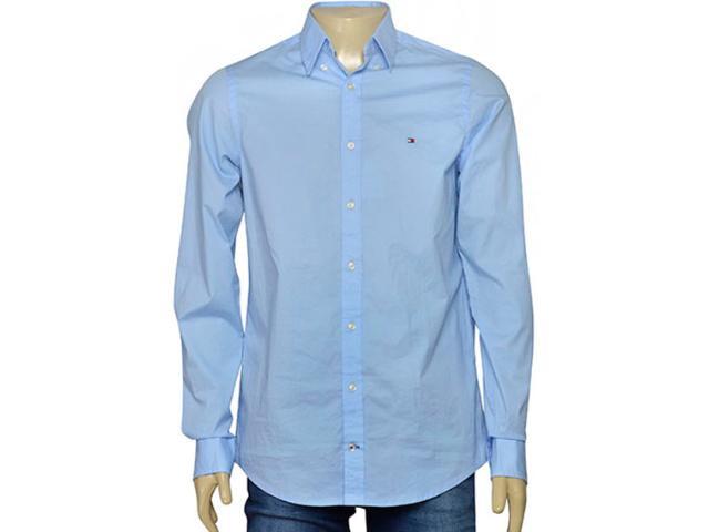 Camiseta Masculina Tommy Th0857883806 Azul Claro