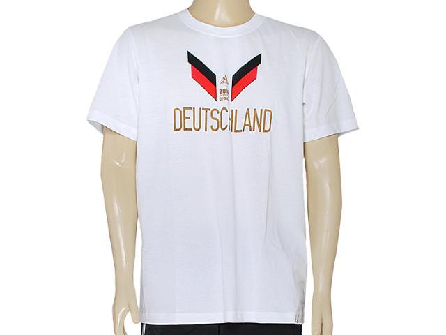Camiseta Masculina Adidas F39500 gr Alemanha Wc14 Branco