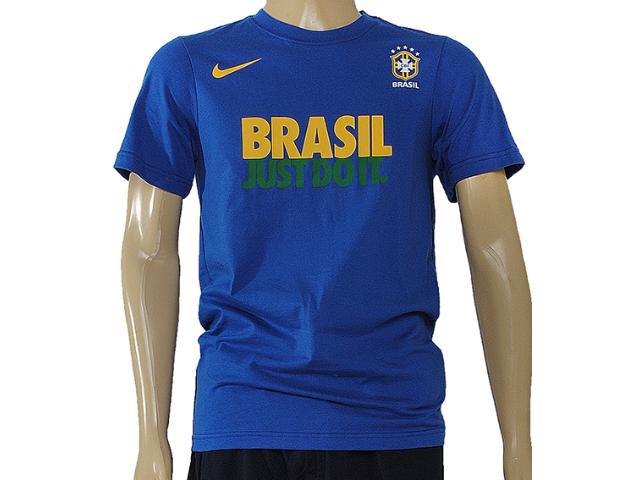 Camiseta Masculina Nike 547211-493 Cbf Jdi Core Read Tee Azul