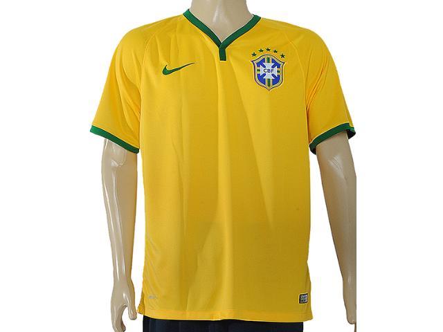 Camiseta Masculina Nike 575281-703 Cbf ss Home Stadium Amarelo/verde