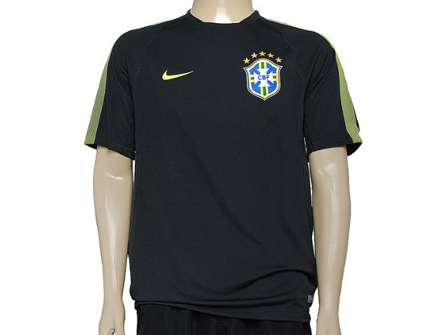 Camiseta Masculina Nike 575697-337 Cbf Squad ss tr Musgo/limão