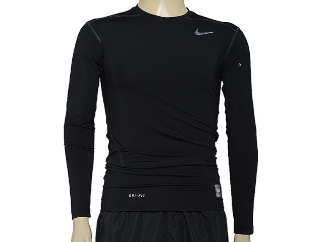 Camiseta Masculina Nike 449794-010 Core Compression ls to Preto