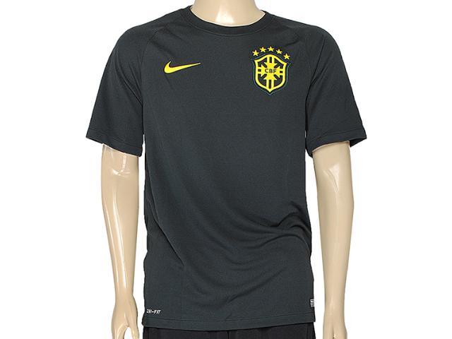 Camiseta Masculina Nike 575284-337 Cbf ss 3rd Stadm Musgo Escuro