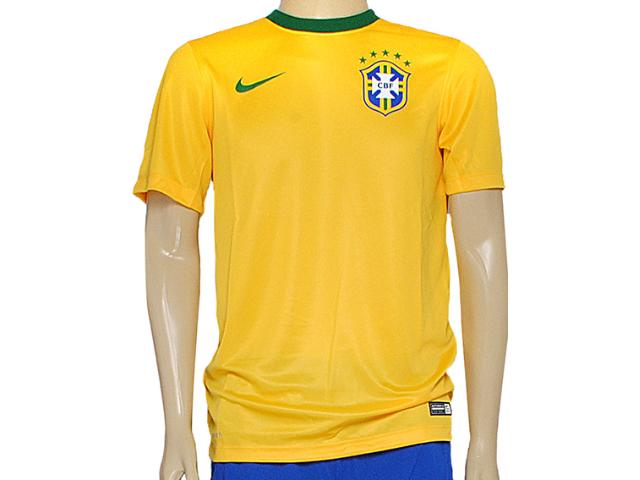 Camiseta Masculina Nike 575715-703 Cbf Supporters Tee Amarelo