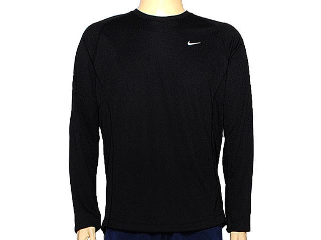 Camiseta Masculina Nike 519700-010 Miler ls uv Preto