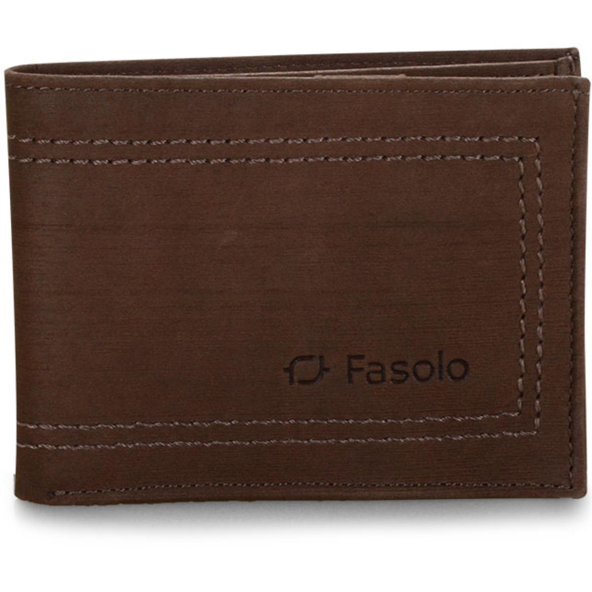 Carteira Masculina Fasolo K650067 009 Chocolate