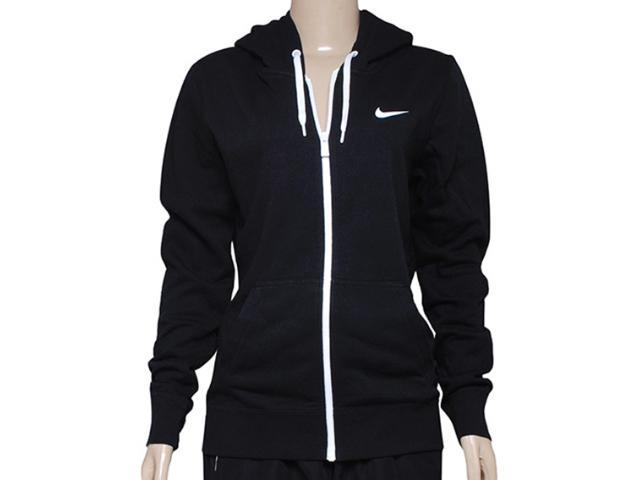 Casaco Feminino Nike 611719-010 Club fz Hoody-swoosh  Preto/branco
