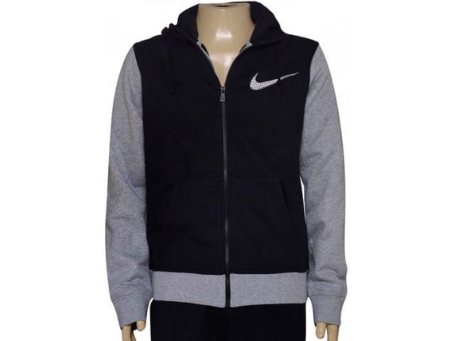 Casaco Masculino Nike 727757-011 Club Fleece Swoosh Plus  Preto/cinza