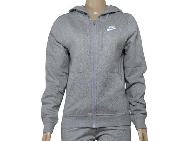 Casaco Feminino Nike  853930-063 w Nsw Hoodie fz Flc Cinza