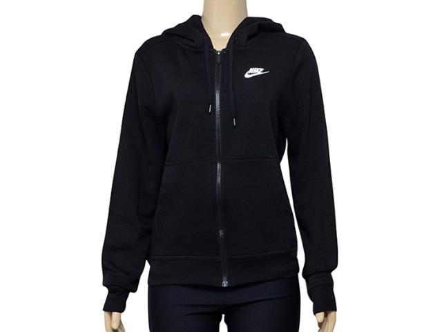 Casaco Feminino Nike 853930-010 w Nsw Hoodie fz Flc Preto