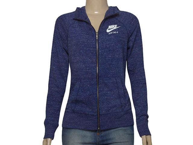 Casaco Fem Infantil Nike 728402-429 Sportswear Gym Azul