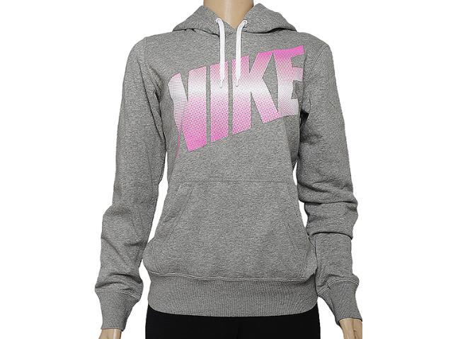 Casaco Feminino Nike 586192-063 Club Crew-graphic Mescla