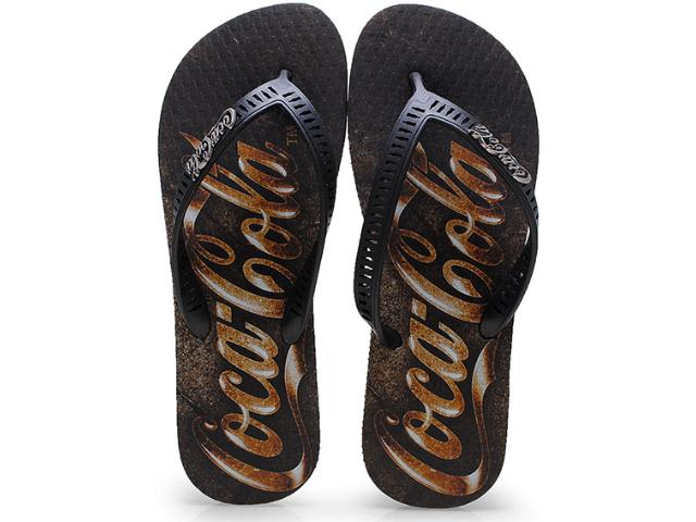 Chinelo Masculino Coca-cola Shoes Cc0655 Preto