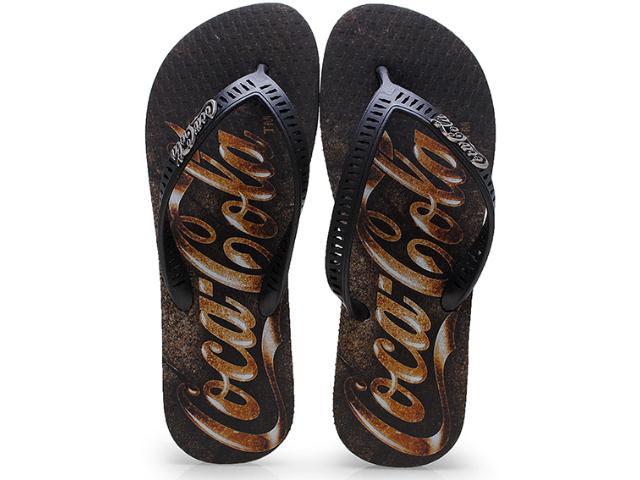 Chinelo Masculino Coca-cola Shoes Cc0655 Preto
