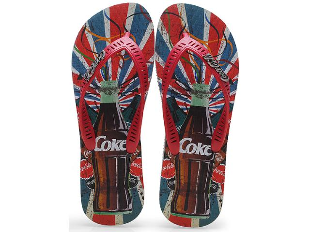 Chinelo Masculino Coca-cola Shoes Cc0638 Cinza/vermelho