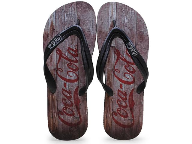 Chinelo Masculino Coca-cola Shoes Cc0563 Preto