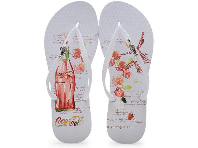 Chinelo Feminino Coca-cola Shoes Cc2004 Branco
