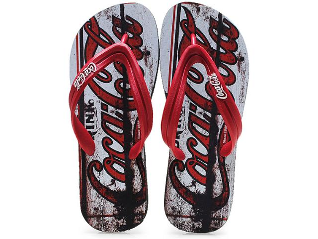 Chinelo Masculino Coca-cola Shoes Cc0127 Preto/vermelho