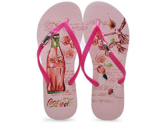 Chinelo Feminino Coca-cola Shoes Cc2004 Pink