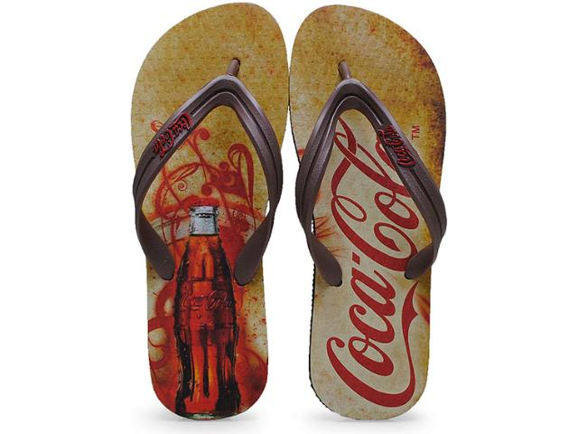 Chinelo Masculino Coca-cola Shoes Cc0653 Preto/marrom