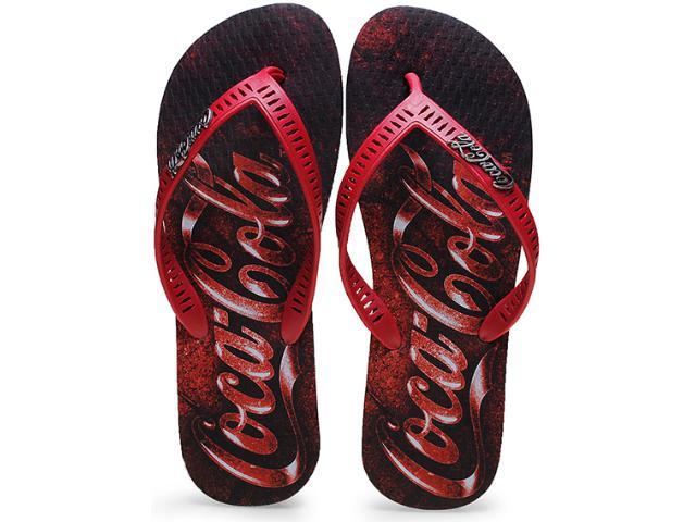 Chinelo Masculino Coca-cola Shoes Cc0655 Preto/vermelho
