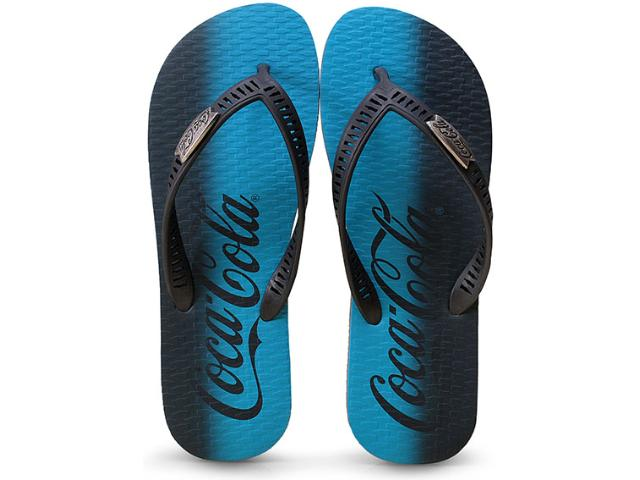 Chinelo Masculino Coca-cola Shoes Cc2076 Grafite/preto