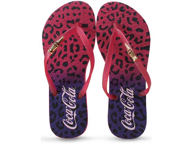 Chinelo Feminino Coca-cola Shoes Cc2045 Lilas/pink