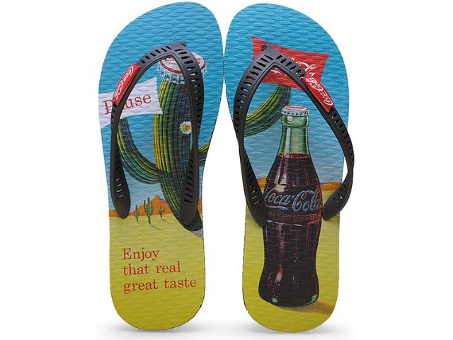 Chinelo Masculino Coca-cola Shoes Cc2077 Preto