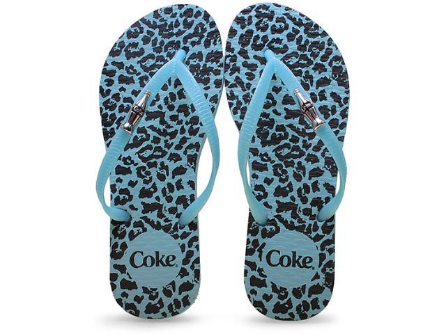 Chinelo Feminino Coca-cola Shoes Cc2102 Onca Turquesa