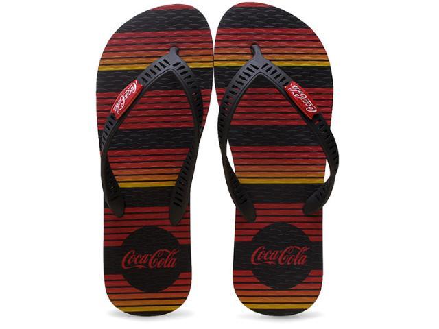 Chinelo Masculino Coca-cola Shoes Cc2095 Preto/vermelho