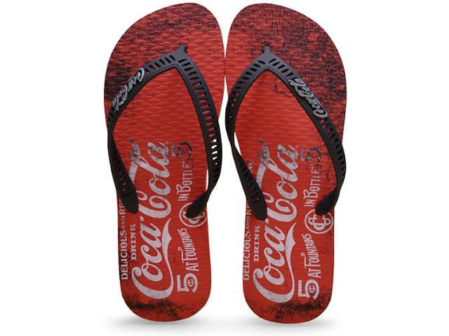 Chinelo Masculino Coca-cola Shoes Cc2099 Vermelho/preto