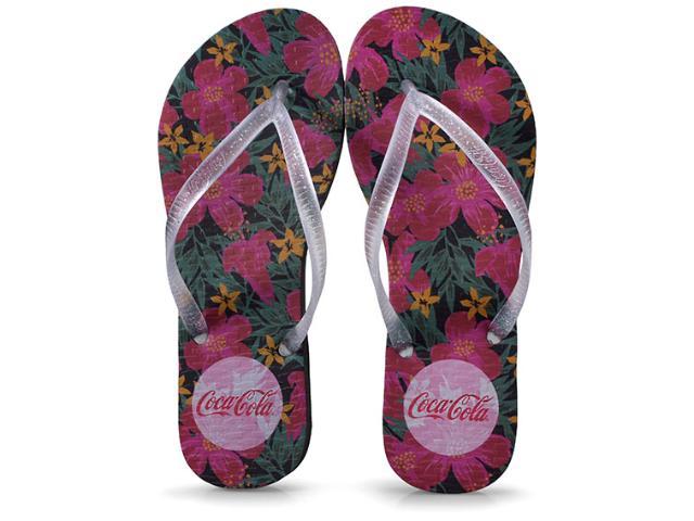 Chinelo Feminino Coca-cola Shoes Ccl2352 Preto/cristal