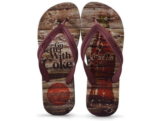 Chinelo Masculino Coca-cola Shoes Ccl2271 Preto/bordo