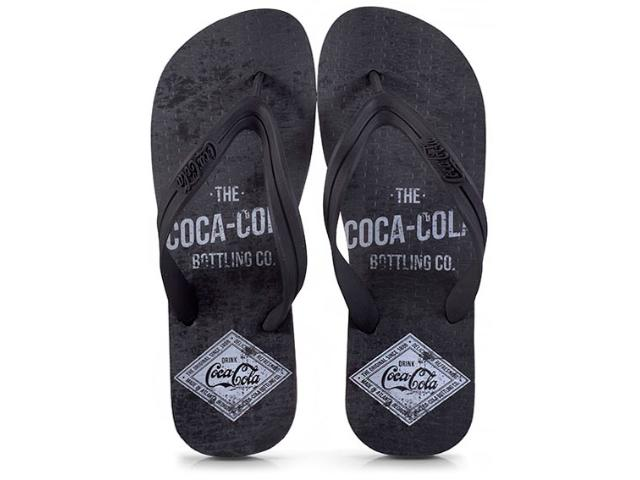 Chinelo Masculino Coca-cola Shoes Ccl2275 Preto