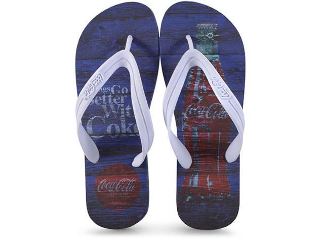 Chinelo Masculino Coca-cola Shoes Ccl2271 Marinho/branco