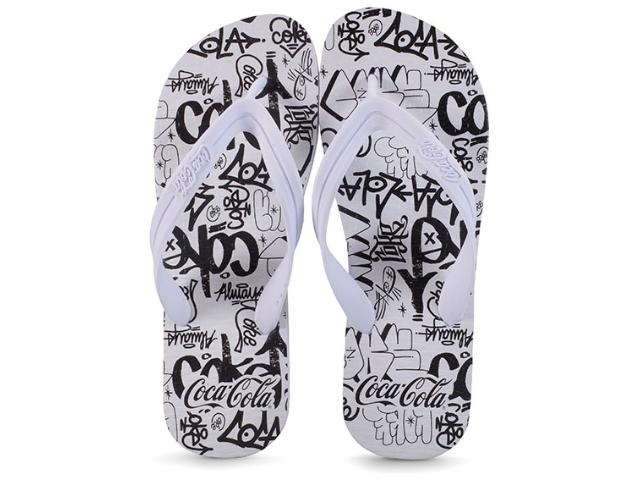 Chinelo Masculino Coca-cola Shoes Ccl2291 Branco