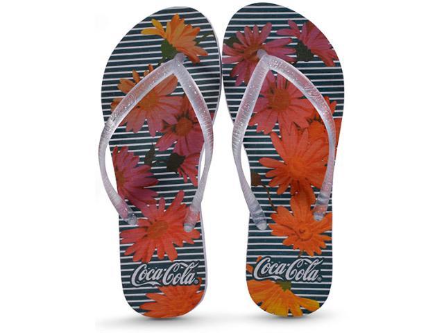 Chinelo Feminino Coca-cola Shoes Ccl2391 Branco/cristal