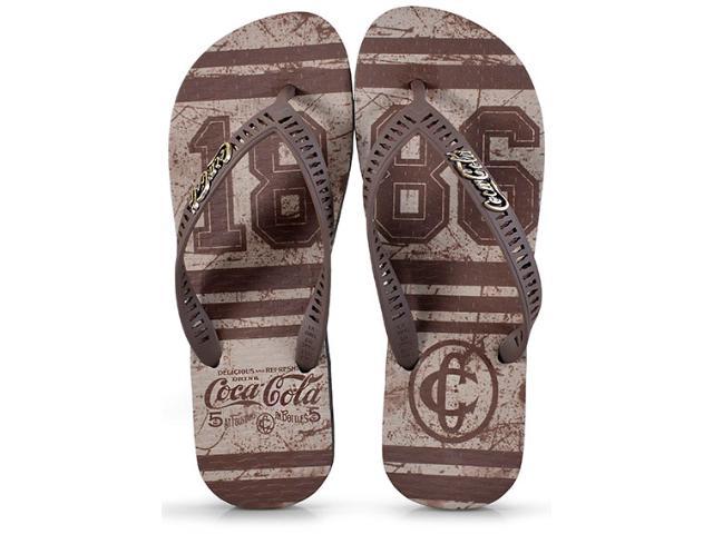 Chinelo Masculino Coca-cola Shoes Cc2338 Preto/marrom