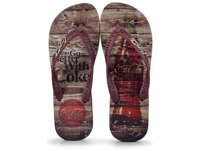 Chinelo Masculino Coca-cola Shoes Cc2271 Preto/bordo