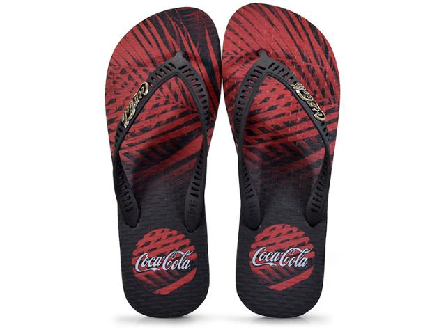 Chinelo Masculino Coca-cola Shoes Cc2273 Preto/vermelho