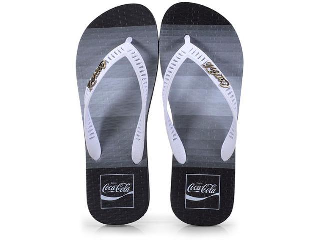 Chinelo Masculino Coca-cola Shoes Cc2565 Preto/branco