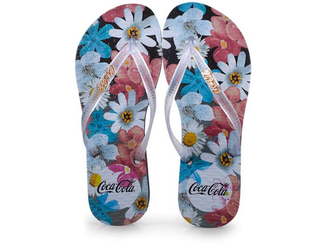 Chinelo Feminino Coca-cola Shoes Cc2446 Preto/cristal